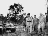 Picture relating to Rockhampton - titled 'Sir Leslie Orme Wilson, Governor of Queensland, inspecting an American military base, Rockhampton district, ca. 1942'