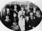 Picture relating to Dalveen - titled 'Turner family from Dalveen on the Darling Downs, 1900'