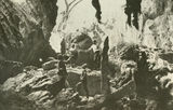 Picture of / about 'Chillagoe' Queensland - Railway officials viewing stalagmites in the caves at Chillagoe