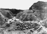 Picture relating to Mount Isa - titled 'Early open cut mine at Mount Isa, May, 1902'