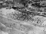 Picture relating to Surfers Paradise - titled 'Beachgoers at Surfers Paradise on the Gold Coast, 1953'