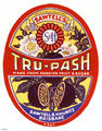 Picture of / about 'Brisbane' Queensland - Tru-Pash cordial label