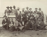 Picture relating to Tambo - titled 'Group of young people in town for the Bachelor's Ball, Tambo, ca. 1902'
