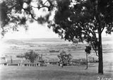 Picture relating to Duntroon - titled 'View from Forrest over Kingston to Duntroon showing Hotel Wellington and Telopea Park School'