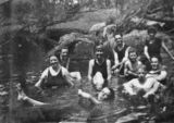 Picture of / about 'Cooyar Creek' Queensland - Bathing at Cooyar Creek, ca. 1925