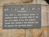 Picture relating to Woolshed Creek Geological Monument - titled 'Geological Society of Australia plaque'