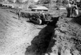 Picture relating to Kilcoy - titled 'Digging a hole for the construction of the Kilcoy Swimming Pool'