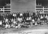 Picture relating to Kilcoy - titled 'Students from Number three Room, pictured outside Kilcoy State School, September 1926'