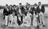 Picture of / about 'Magnetic Island' Queensland - Group of young people socialising on the beach at Magnetic Island, 1932