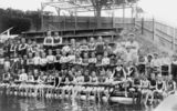Picture relating to Coolangatta - titled 'Boys from St George at swimming lessons, Coolangatta, ca. 1930'