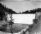 Picture relating to Cotter Dam - titled 'Cotter Dam wall, stilling pond and spillway.'
