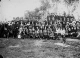 Picture relating to Kingaroy - titled 'Large group of picnicers at Kingaroy, ca. 1913'