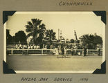 Picture relating to Cunnamulla - titled 'Anzac Day commemoration services at the War Memorial in Cunnamulla, Queensland, 1939'