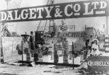 Picture relating to Rockhampton - titled 'Dalgety's agricultural supply exhibit at the Rockhampton Showground, Queensland, ca. 1907'