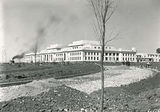 Picture of / about 'Parliament House' the Australian Capital Territory - Old Parliament House from west side of Parkes place with steam shovel contructing King George Terrace