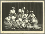 Picture relating to Gympie - titled 'Young women of the Black and White Costume Company, Gympie, 1917'