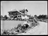 Picture relating to Banks - titled 'Westridge House. Home of the Principal of the Australian Forestory School, Mr. C Lanepoole Banks Street, Yarralumla, with well developed gardens.'