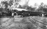 Picture of / about 'Kalbar' Queensland - Crowds watch as a steam train stops at Kalbar railway station