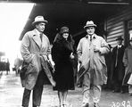 Picture of / about 'Bruce' the Australian Capital Territory - Royal Visit, May 1927 - Rt Hon S M Bruce and Mrs. Bruce with Sir John Butters.