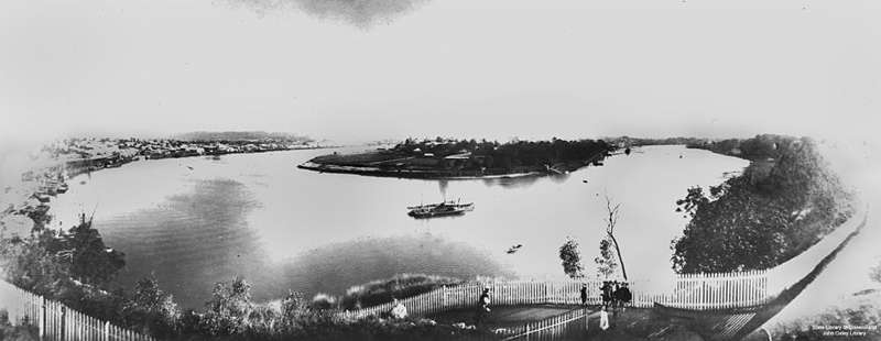 Picture of / about 'Brisbane' Queensland - Brisbane River seen from Kangaroo Point, ca. 1906