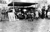 Picture relating to Kilcoy - titled 'Admiring the new cars at Kilcoy Showgrounds, ca. 1915'
