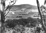 Picture relating to Ainslie - titled 'View from slopes of Mt Ainslie towards Black Mountain'