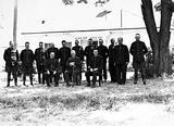 Picture relating to Acton - titled 'Group of policemen outside Acton Courthouse'
