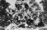Picture relating to Stanthorpe - titled 'Casual gathering of foundation pupils and teachers of St. Catherine's School, Stanthorpe, 1911'