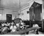 Picture relating to Maryborough - titled 'Classroom at the Girls' Grammar School, Maryborough, ca. 1890'