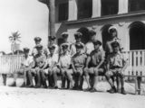 Picture relating to Thursday Island - titled 'Naval officers on Thursday Island, 1945'