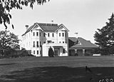 Picture relating to Yarralumla - titled 'Government House, Yarralumla, private entrance. Canberra residence of the Governor General.'