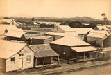 Picture relating to Mackay - titled 'Wooden buildings in Mackay township in the 1870's'