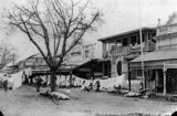 Picture relating to Mackay - titled 'Sydney Street, Mackay, after a cyclone in 1918'