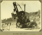 Picture relating to Somerset Dam - titled 'Ruston steam shovel'