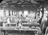 Picture relating to Kingston - titled 'Interior of Joiners Shop with workmen at Kingston'