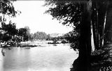 Picture relating to Murrumbidgee River - titled 'Murrumbidgee River near the Cotter Pump House'