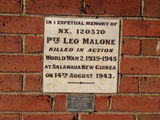 Picture relating to Brungle - titled 'Leo Malone memorial plaques'