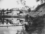 Picture relating to Mount Morgan - titled 'Swing bridge at Mount Morgan, ca. 1900'