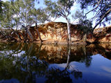 Picture relating to Bilung Pool - titled 'The Outback reflected'