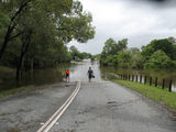 Picture relating to Petrie - titled 'Petrie floods road covered'