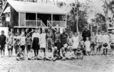 Picture of / about 'Miriam Vale' Queensland - Pupils and teacher outside the Miriam Vale State School, 1918
