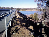 Picture relating to Lake Ginninderra - titled 'Lake Ginninderra Dam Wall'