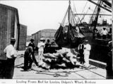 Picture relating to Bulimba - titled 'Loading cargo at Dalgety's Wharf, Brisbane, ca. 1911'