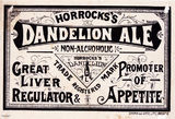 Picture relating to Queensland - titled 'Horrocks's Dandelion Ale label'