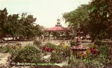Picture relating to Maryborough - titled 'Band Rotunda in Queen's Park, Maryborough, ca. 1930'