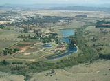 Picture relating to Molonglo River - titled 'Aerial view of the Queanbeyan Sewerage Treatment Plant on Molonglo River'