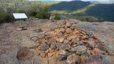 Picture relating to Mount Lindsay - titled 'Stone cairns at Lindsay Rock Lookout'
