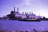 Picture relating to Williamstown - titled 'Old Newport Power station and short road ferry circa 1960'