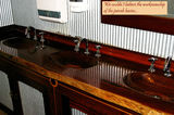 Picture relating to Chichester Range - titled 'Excellent workmanship in a jarrah sink'