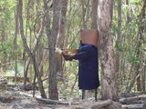 Picture relating to Corryong - titled 'Ned Kelly on Mount Elliot Track'